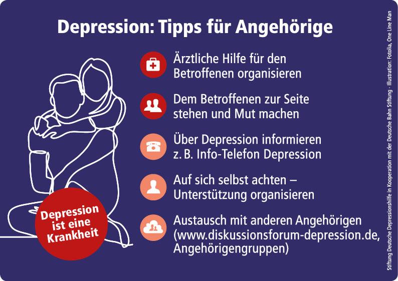 Angehörige depressiv Erkrankter